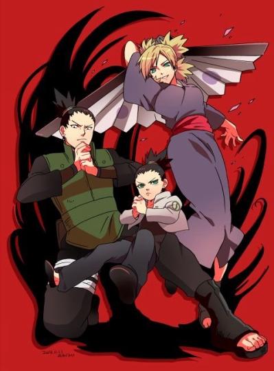 Shikamaru, Shikadai e Temari