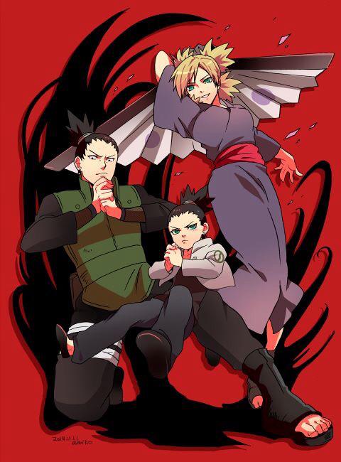 shikadai, Shikamaru e Temari badwolf